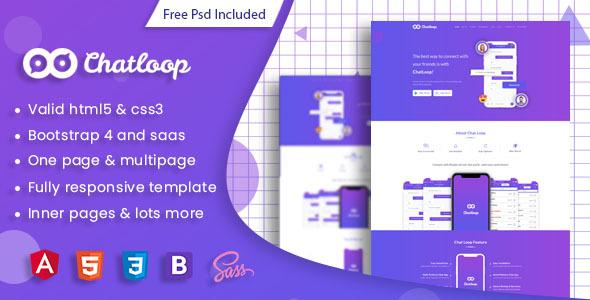 Chatloop - Angular 8 App Landing Page