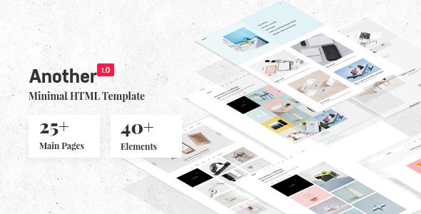Another – Creative Minimal Portfolio HTML Template