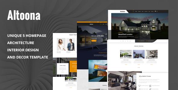 Altoona - Architecture & Interior Design HTML Template
