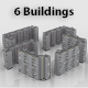 Pack of 6 Russian Panel Apartment Buildings - 3DOcean Item for Sale