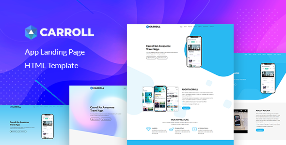 Carroll - App Landing Page HTML Template