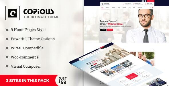 Copious - Multiuse WordPress Theme