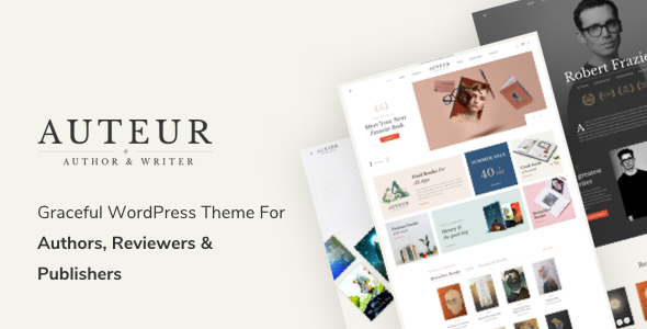 Auteur – WordPress Theme for Authors, Reviewers and Publishers