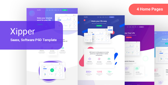Xipper – PSD Landing Page Template for App & Saas Products - Crack