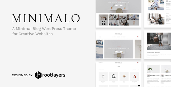 Minimalo – A Minimal Blog WordPress Theme for Creative Websites