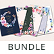 Floral Watercolor Wedding Invitation Bundle - GraphicRiver Item for Sale