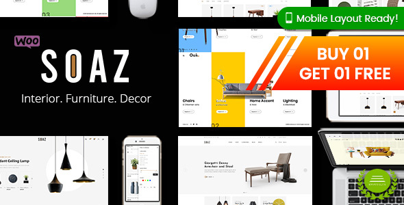 Soaz - Furniture Store WordPress WooCommerce Theme (Mobile Layout Ready)