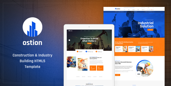 Ostion - Construction & Industry Building Company HTML5 Template