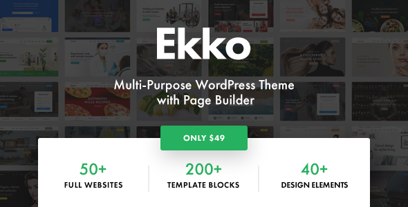 Ekko – Multi-Purpose WordPress Theme with Page Builder Free Download