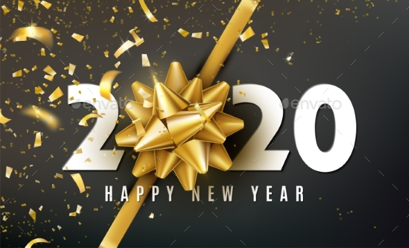 2020 Happy New Year Vector Background