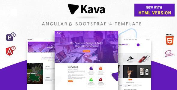 Kava - Angular 8, Bootstrap 4 and Html Multipurpose Site Template