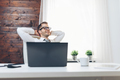 Successful businessman sitting in his office - PhotoDune Item for Sale