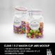 Clear 1.5 Liter Mason Clip Jar Packaging Mockup - GraphicRiver Item for Sale