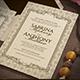 Vintage Elegant Wedding Invitation - GraphicRiver Item for Sale
