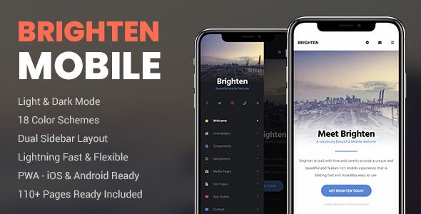 Brighten Mobile and PWA