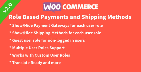 WooCommerce Role based Payments and Shipping Methods