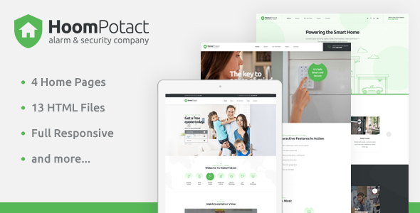 HoomPotact - Smart Alarm & Security Systems HTML Template