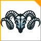 Iron Ram Skull Logo - GraphicRiver Item for Sale
