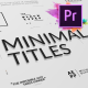 Just Type   Minimal Titles For Premiere Pro - VideoHive Item for Sale