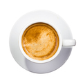 coffee cup top down over white background - PhotoDune Item for Sale