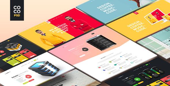 Coco   Creative Hosting Mobile App Personal PSD