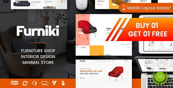 Furniki - Furniture Store & Interior Design WordPress WooCommerce Theme (Mobile Layout Ready)