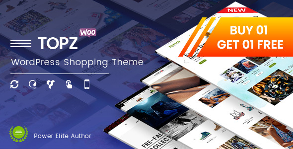TopZ - Top Food Store & Sport Fashion Shop WordPress WooCommerce Theme