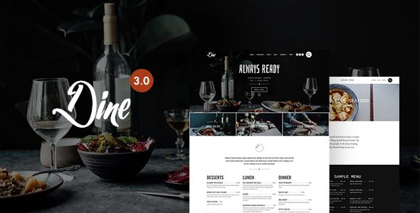 Dine - Elegant WordPress Theme For Restaurant, Cafe, Bar