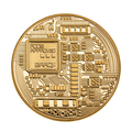 Golden cryptocurrency coin isolated - PhotoDune Item for Sale