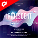 Iridescent Nights 4x4 Inch Flyer Template - GraphicRiver Item for Sale