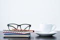 Coffee cup and eyeglasses on desk-2 - PhotoDune Item for Sale