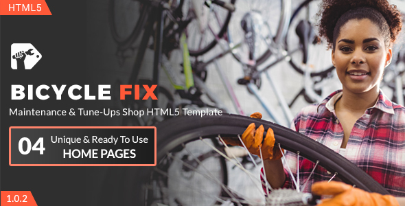 Bicycle Fix - Maintenance and Tune-Ups Shop HTML5 Template