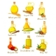 Set of Isolated Bottles or Jars with Different Oil - GraphicRiver Item for Sale