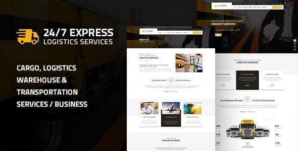 Express Logistics | Logistics/Cargo WordPress