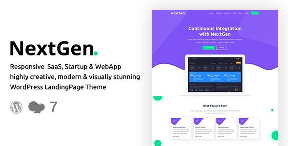 NextGen – Startup & WebApp WordPress Theme 4