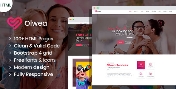 Olwea - LGBT Community HTML template
