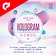 Hologram Venue 4x4 Inch Flyer Template - GraphicRiver Item for Sale