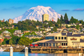 Tacoma, Washington, USA with Mt. Rainier in the distance - PhotoDune Item for Sale