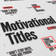 Just Type   Motivational Titles - VideoHive Item for Sale