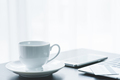 cup of coffee and credit cards on laptop - PhotoDune Item for Sale