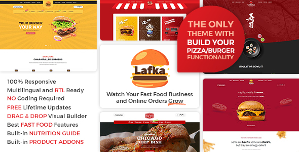 Lafka - Fast Food & Restaurant WooCommerce Theme