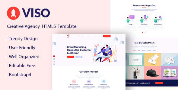 VISO – One Page Creative Agency HTML5 Template