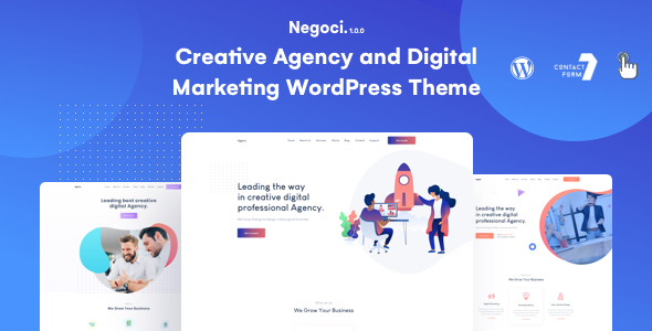 Negoci - Digital Marketing WordPress Theme