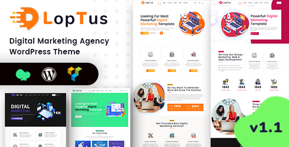 Loptus - Digital Marketing Agency WordPress Theme