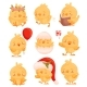 Set of Images of Chickens with Different Objects - GraphicRiver Item for Sale