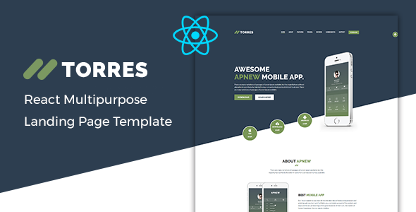 Torres – React App Landing Page Template