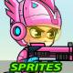 SpaceGirl 2D Game Sprites - GraphicRiver Item for Sale