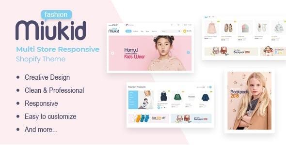 MiuKid - Multi Store Responsive Shopify Theme