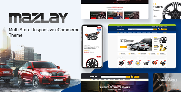 Mazlay - Car Accessories OpenCart Theme (Included Color Swatches)