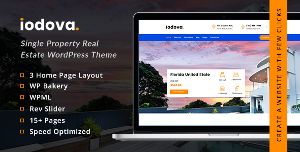 Iodova - Single Property Real Estate WordPress Theme